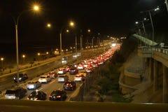 Kunt u dit verkeer in San Miguel, Peru behandelen Stock Fotografie