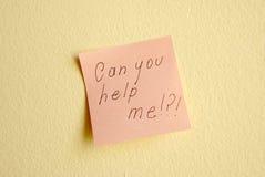 Kunt u me helpen Stock Fotografie