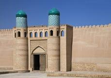 The Kunya Ark gate in Khiva, Uzbekistan stock image