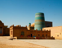Kunya ark gates. Square near  Kunya-ark citadel in Khiva, Uzbekistan Royalty Free Stock Photos