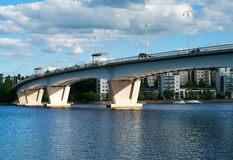 Kuokkala Bridgei in Jyvaskyla, Finnland. stockfotos