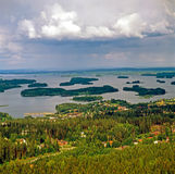 Kuopio, Finland. View of Kuopio with lake in Finland Royalty Free Stock Photography