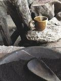 Kupa av espresso royaltyfria bilder