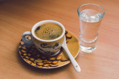 Kupa av espresso Royaltyfria Foton