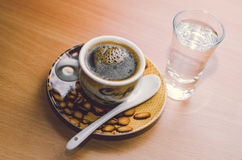 Kupa av espresso Arkivbilder