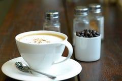 Kupa av hoat kaffe Arkivfoto
