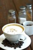 Kupa av hoat kaffe Arkivbild