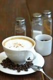 Kupa av hoat kaffe Fotografering för Bildbyråer