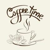 Kupa av kaffe stock illustrationer