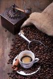 Kupa av kaffe 1 livstid fortfarande royaltyfri foto