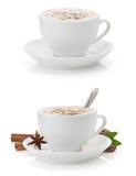 Kupa av kaffe på vit Arkivfoto