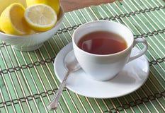 Kupa av svart tea Royaltyfri Bild