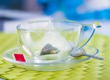 Kupa av tea med tea hänger lös Royaltyfri Fotografi