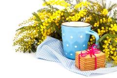 Kupa av tea och kakor Arkivfoton