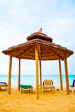 kupa för strandunderlagbungalo s Royaltyfri Foto