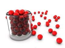 Kupa glass, och rött klumpa ihop sig Royaltyfri Illustrationer