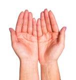 kupade händer två royaltyfri foto
