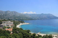 Kupari海滩克罗地亚,亚得里亚海 免版税库存图片