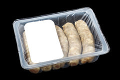 Kupaty (bratwursts) in modified atmosphere packaging (MAP) Stock Images