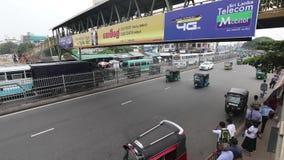 Kupczy chaos i przekrwienie od Kolombo w Sri Lanka zbiory wideo