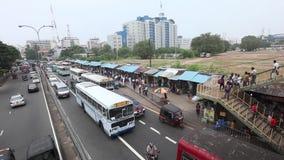 Kupczy chaos i przekrwienie od Kolombo w Sri Lanka zdjęcie wideo