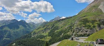 Kupczy na Wysokiej Alpejskiej drodze Grossglockner Fotografia Stock