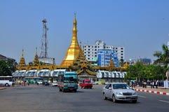 Yangon, Myanmar ruch drogowy fotografia royalty free