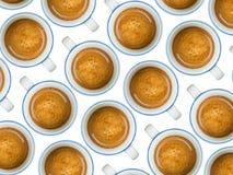 Kuper av kaffe royaltyfri fotografi