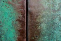 Kupfer mit einem Oxidhintergrund des großen Gebiets Stockbild