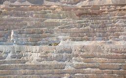 Kupfermine der geöffneten Grube stockfotografie