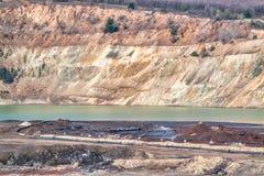 Kupfermine nahe Elshitsa, Bulgarien stockfotos