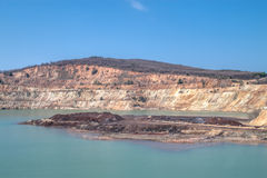 Kupfermine nahe Elshitsa, Bulgarien lizenzfreie stockfotografie