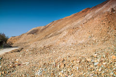 Kupfermine nahe Zar Asen-Dorf, Bulgarien stockfotos