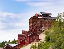 Kupfermine wird eine Geisterstadt stockbilder