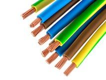 Kupferne elektrische Drähte Lizenzfreie Stockfotos