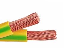 Kupferne elektrische Drähte Lizenzfreies Stockfoto
