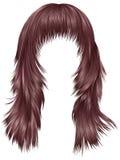 kupferne Farben des modischen langen Haarrosas der Frau Schönheitsmode stock abbildung