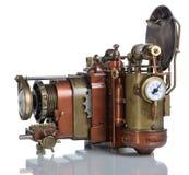 Kupferne Fotokamera. Stockfotografie