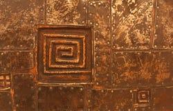 Kupferne Metallbeschaffenheit Stockbild
