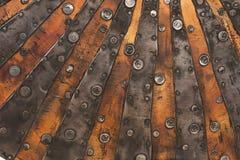 Kupferne Metallbeschaffenheit Stockfotos