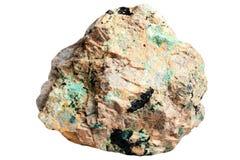 Kupferne Mineralien - lazurite, lasurstein, Malachit lizenzfreie stockfotos