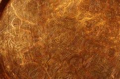 Kupferne Platte Stockfoto