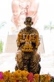 Kupferne Skulptur von Luang Phor Toh Stockfotografie