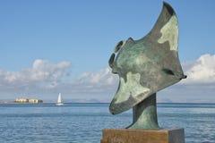 Kupferne Statue des Manta in mallejon La Paz Baja California Sur stockfoto
