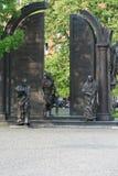 Kupferne Statuen in Hannover stockfotografie