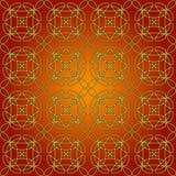 Kupferne Swirly Whirly nahtlose Fliese Stockbild