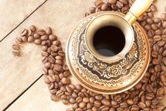 Kupferne Türken und Kornkaffee Lizenzfreies Stockfoto