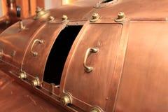 Kupferner Behälter Stockbild