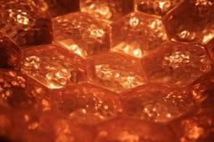 Kupferner Hexagonmusterhintergrund Lizenzfreies Stockbild