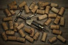 Kupferner Korkenzieher des Weins Lizenzfreies Stockfoto